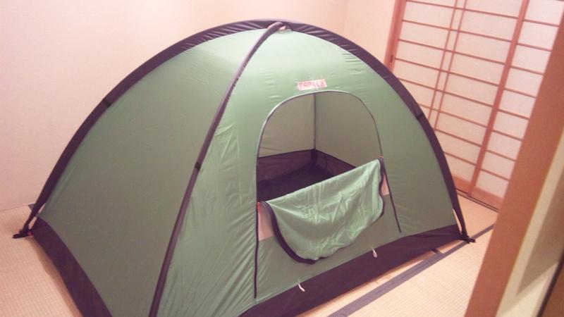 テントが張れていいですね。