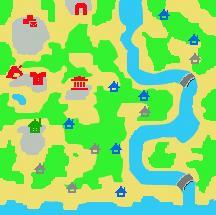 エルダン村の地図