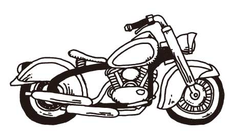 レトロなバイク(アメリカン風)のイラスト素材(ai)