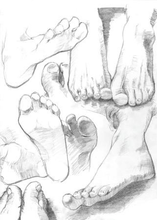 足 脚 鉛筆デッサン スケッチ