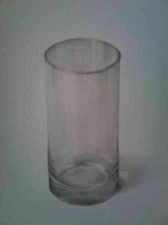 鉛筆デッサン グラス コップ
