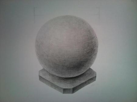 鉛筆デッサン 球 ボール