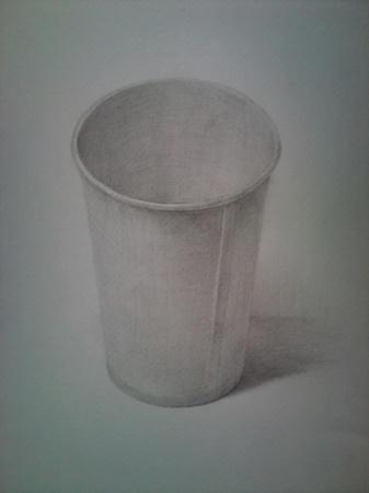 鉛筆デッサン 紙コップ