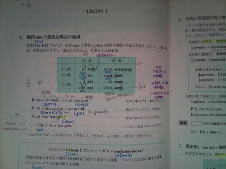 国立大学 フランス語 教科書 文法