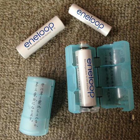電池アダプター 電池スペーサー 単三電池や単四電池を単一電池や単二電池に変換 プラスチックケース