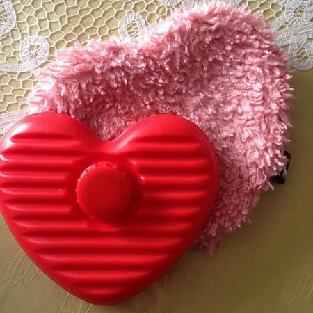 湯たんぽ 赤 ピンク ハート形 小さいサイズ