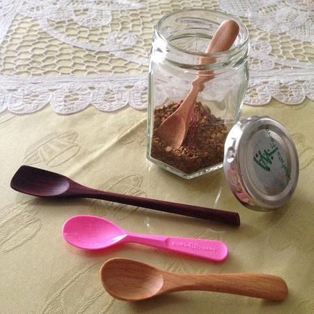柄の短い木製スプーン Sサイズ 小さいスプーン