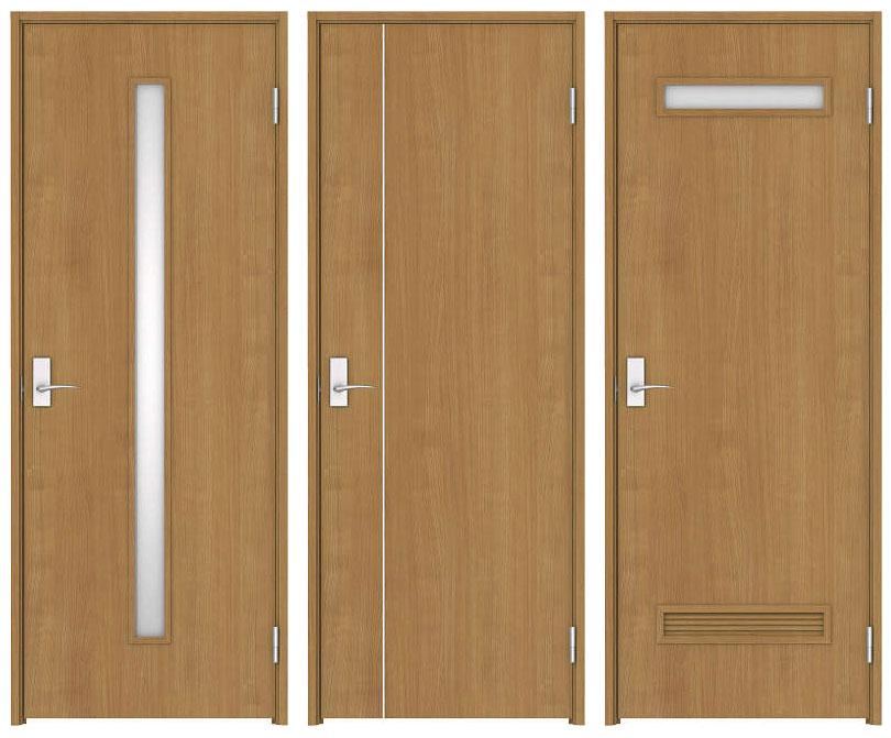右からリビングドア、居室ドア ...
