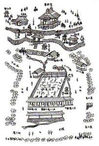 草津温泉、広小路の図