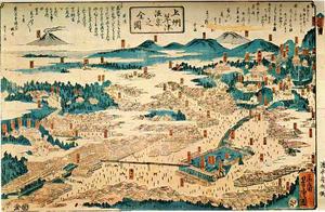 上州草津温泉之図 湯本安兵衛版