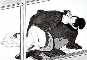 歌麿筆「艶本葉男婦舞喜」より
