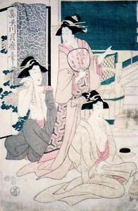 喜多川月麿筆 上州草津温泉略図