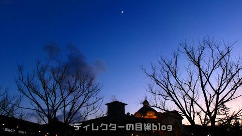 ホテルミラコスタと月