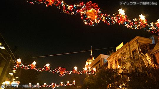 °○°東京ディズニーシー クリスマス・ウィッシュ2015 雨が降り出したちょっぴり幻想的な夜の風景その1