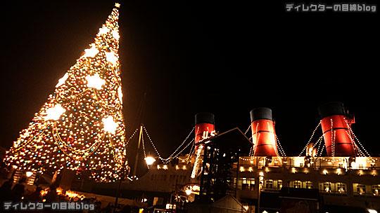 °○°東京ディズニーシー クリスマス・ウィッシュ2015 雨が降り出したちょっぴり幻想的な夜の風景その4