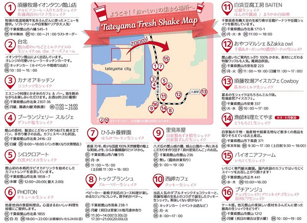 令和元年7~9月末まで開催の「館山 夏の生シェイク祭り」に参加した