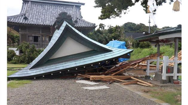 屋根も車庫も神輿まで「支援あまりにも遅い」 台風被害の千葉・館山布良地区