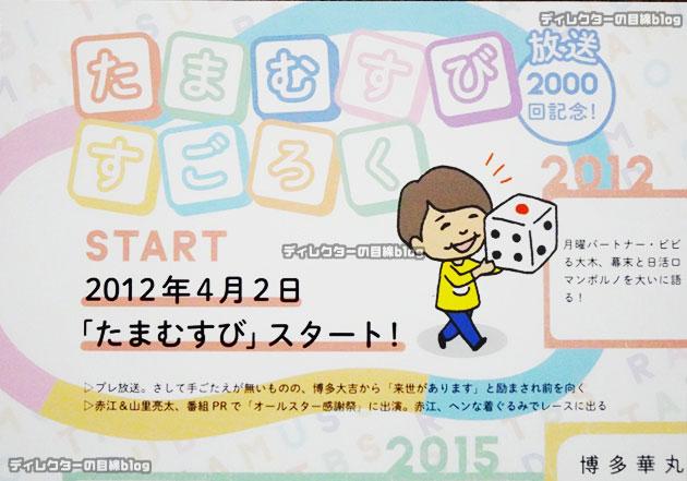 TBSラジオ「たまむすび」放送2000回記念すごろく配布イベントに行って来た