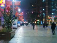 ネオンが点いていない暗い南京東路