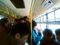 代行運転中のバスの中の様子