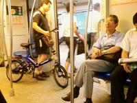 自転車と乗客