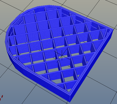 3Dプリンター,Slic3r,設定,方法,Repetier,使い方,Print settings,Infill,Fill Pattern,rectilinear