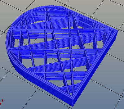 3Dプリンター,Slic3r,設定,方法,Repetier,使い方,Print settings,Infill,Fill Pattern,line