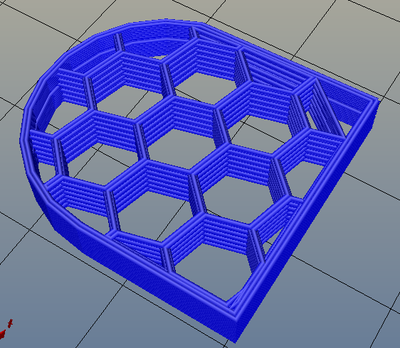 3Dプリンター,Slic3r,設定,方法,Repetier,使い方,Print settings,Infill,Fill Pattern,honeycomb