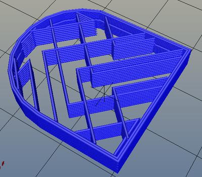 3Dプリンター,Slic3r,設定,方法,Repetier,使い方,Print settings,Infill,Fill Pattern,octagramspiral
