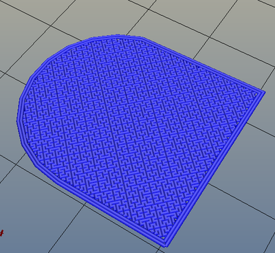 3Dプリンター,Slic3r,設定,方法,Repetier,使い方,Print settings,Infill,Top/bottom fill pattern,hilbertcuve