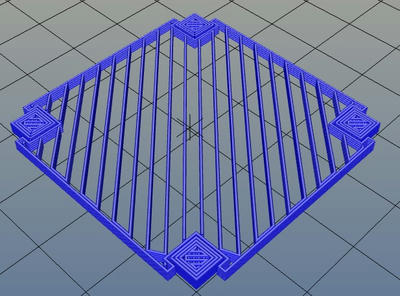 3Dプリンター,Slic3r,設定,方法,Repetier,使い方,Print settings,Support and material,Options for support material and raft,Pattern,rectilinear