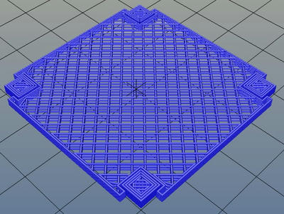 3Dプリンター,Slic3r,設定,方法,Repetier,使い方,Print settings,Support and material,Options for support material and raft,Pattern,rectilinear grid