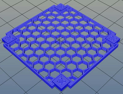 3Dプリンター,Slic3r,設定,方法,Repetier,使い方,Print settings,Support and material,Options for support material and raft,Pattern,honeycomb