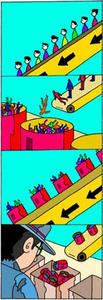 4コマ漫画 「缶詰」