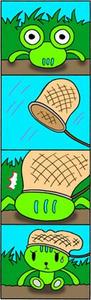 4コマ漫画 「間違い」