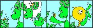 4コマ漫画 「天敵」
