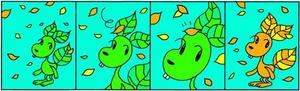 4コマ漫画 「黄葉」