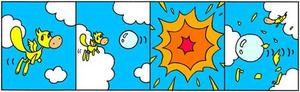 4コマ漫画 「破裂」