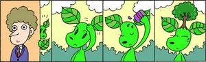 4コマ漫画 「育毛」