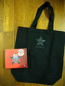 「ULTRA Pleasure」≪2CD+DVD≫と一緒に同梱されていた特典品のB'zスペシャルトートバッグ