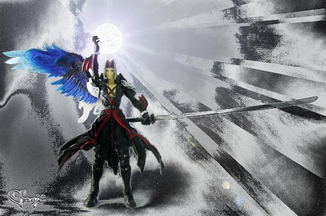 KHプレイアーツアクションフィギュアのセフィロス無属性の魔法風の画像