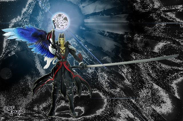 KHプレイアーツアクションフィギュアのセフィロス黒魔法風の画像