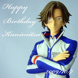手塚国光部長のフィギュアの画像で誕生日を祝ってみました
