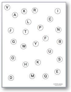 注意課題・TMT様課題 - 縦版(アルファベット A→Y)| イメージ
