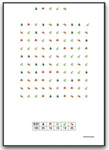 注意抹消・キャンセレーション課題(記号・シンボル抹消課題:木など )| 画像イメージ