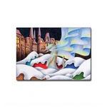 雪猫.6- ファブリックパネル