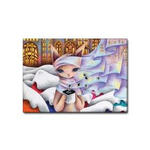 雪猫.7- ファブリックパネル