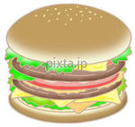 「食品・食べ物」を描いたイラスト