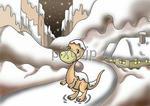 恐竜キャラクターのポスカ用イラスト