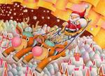 クリスマスイヴ・サンタクロース・クリスマスツリー・トナカイ